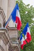 французские национальные флаги — Стоковое фото