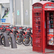 Displaced Telephone Kiosk — Stock Photo