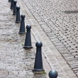 Bollards and Cobbles — 图库照片