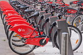 Red Bicycle Fleet — Stock Photo