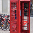 Relocated Telephone Box — Stock Photo