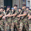Marching French Troops — Stock Photo