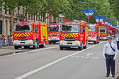 Fire Brigade on Parade — Stock Photo