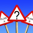 Plan A Plan B — Stock Photo