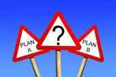 Pianificare un piano b — Foto Stock