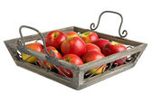 Apples on a tray — Stock Photo