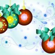 Stock Vector: Decorated Christmas balls