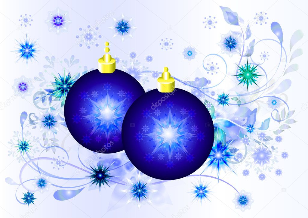 Xmas balls card design. Christmas vectors  Stock Vector #10910858