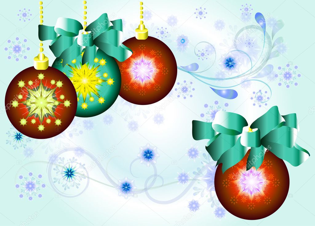 Decorated  Xmas balls . Christmas vectors — Stock Vector #10911102