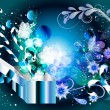 Blue Christmas decorative background - Stock Vector