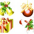 Stock Vector: Christmas decoration set