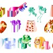 Big collection of gifts - Stock Vector