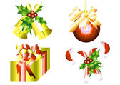 Christmas decoration set — Stock Vector