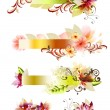 Abstract floral vector banners set — Stock Vector
