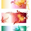 Beautiful vector swirly banners set — Stock Vector