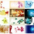 Royalty-Free Stock Vector Image: Bussines cards set in floral style