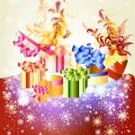 kartkę z życzeniami Christmas — Wektor stockowy