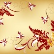 Gentle vector floral background in vintage style — Image vectorielle