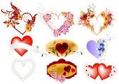 векторный набор сердечки — Cтоковый вектор