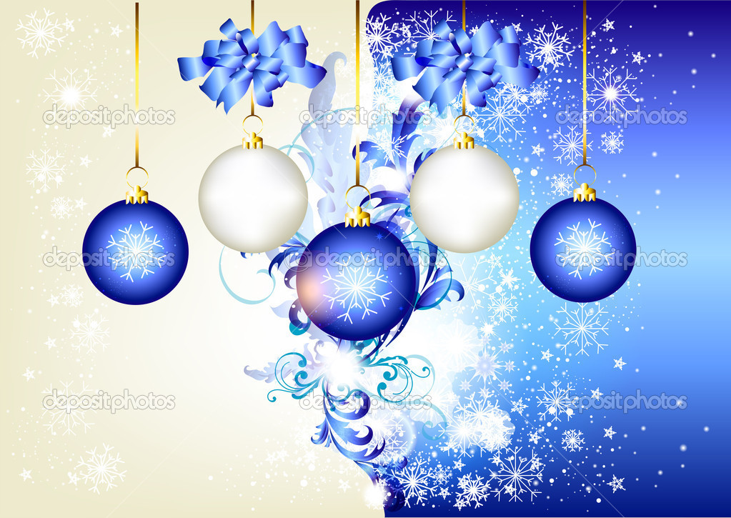Blue Christmas background  for your design. — Stock Vector #11548688