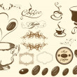 Coffee vector set — Stock Vector