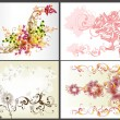Floral backgrounds design vector set — Stock Vector