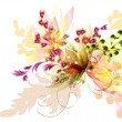 Flowers abstraction - Stock Vector