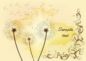 Dandelion background — Stock Vector