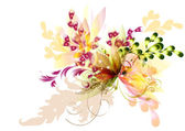 Flowers abstraction — Stock Vector