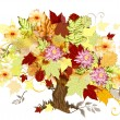 Vector de stock : Art tree background