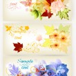 Banner vector set in elegant style -  