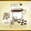Hand drawn vector still life with coffee — Stock Vector #11887017