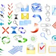 Icon vector set web design elements - Stock Vector