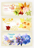 Banner vector set in elegant style — Stock Vector