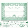 Certificate or coupon for design - Stockvektor