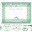 Certificate or coupon for design - Image vectorielle