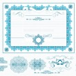 Certificate or coupon in blue color - Stockvektor