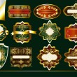 Gold-framed labels vector set: — Imagen vectorial