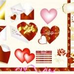 Hearts valentines design elements — Stock Vector #11987796
