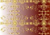 Elegant seamless vector wallpaper design — Stock Vector