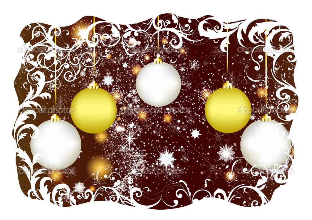 Christmas greeting card for your design. Christmas  Vettoriali Stock  #11986656