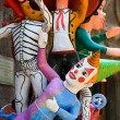 Paper mache characters — Stock Photo