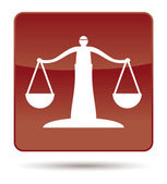 Icon of justice scales — Stock Photo