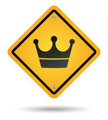 Crown road sign — Stock Photo