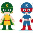 Super heroe kids — Stock Photo