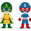 Super heroe kids - Foto Stock