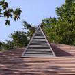 Triangle shape skylight — Stock Photo
