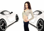 Sexy Girl and Car — Stock Photo