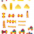 Set of constructor pieces — Stock Photo
