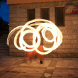 Fire show at the evening - Lizenzfreies Foto